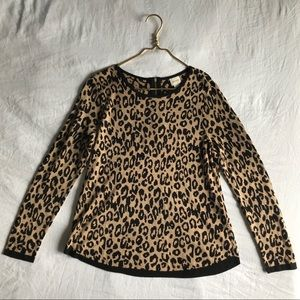 Chico's Cheetah Print Pullover Sweater